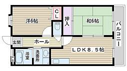 第5渡部ビル[2F101号室]の間取り