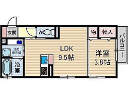 シャルム総持寺[1階]の間取り