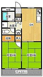 大阪府高石市西取石8の賃貸アパートの間取り