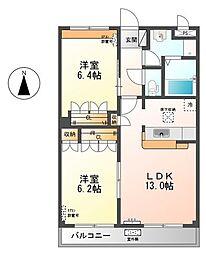 グランベル・ハウス2[1階]の間取り
