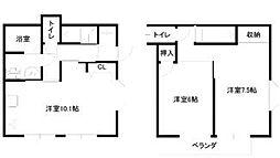 [テラスハウス] 神奈川県藤沢市本鵠沼5丁目 の賃貸【/】の間取り