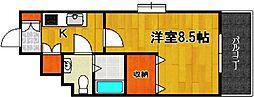 福岡県福岡市中央区舞鶴1の賃貸マンションの間取り