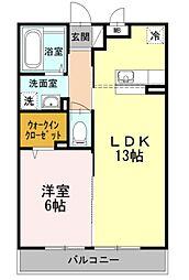マグノリア湘南台[3階]の間取り