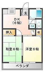 船山ハイツ[2階]の間取り