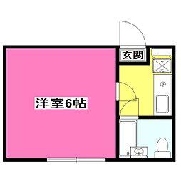 東京都小平市栄町1丁目の賃貸アパートの間取り