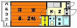 ツインコーポ唐原[3階]の間取り