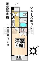 愛知県名古屋市昭和区安田通5丁目の賃貸マンションの間取り