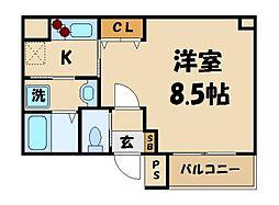 埼玉県川口市西青木2丁目の賃貸マンションの間取り