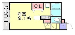 フレックス笹原駅前[4階]の間取り