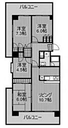 モアクレスト玉川学園2番館[4階]の間取り