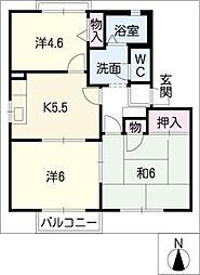 サニーファイブ D棟[2階]の間取り