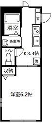 山手桜道ヒルズ[101号室]の間取り