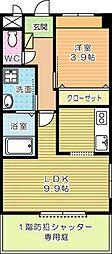 Marusan&SunriseIII[101号室]の間取り