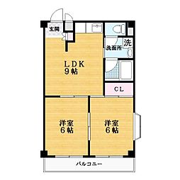 サクシードマンション[5階]の間取り