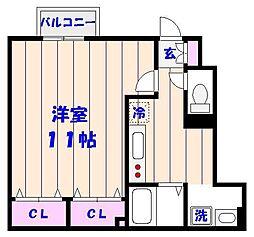 スマートF2[105号室]の間取り