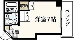 広島県広島市中区榎町の賃貸マンションの間取り