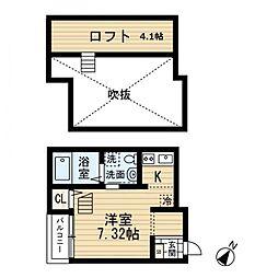ボナール吉塚[1階]の間取り