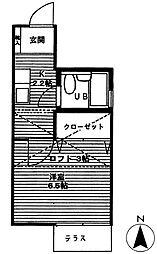 東京都品川区南品川2丁目の賃貸アパートの間取り