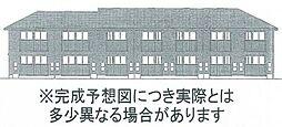 岡山県岡山市北区三門中町の賃貸アパートの外観