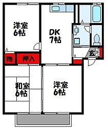 ウィスタリアコーポ2号館[2階]の間取り