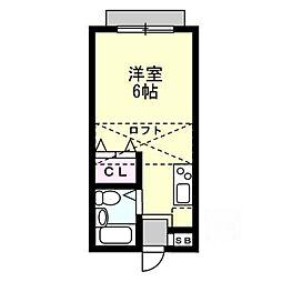 TOKIWAハイツ[2階]の間取り