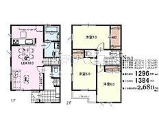 1号地 建物プラン例(間取図) 武蔵村山市榎2丁目
