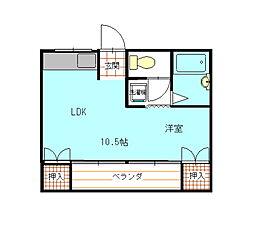 桜井ビル[206号室]の間取り