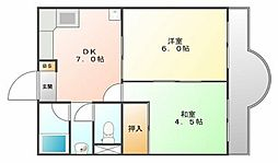 四宮マンション[2階]の間取り