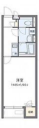 クレイノ百合桜[207号室]の間取り