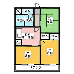 青山マンション[1階]の間取り