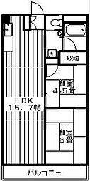 東京都世田谷区深沢5丁目の賃貸マンションの間取り