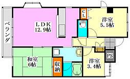 グランドールマンション[401号室]の間取り