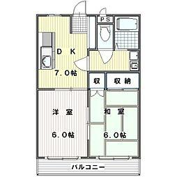 上の台Nスカイ[3階]の間取り