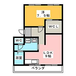 貴布祢ハイツ[2階]の間取り