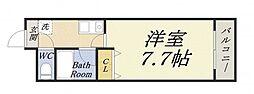 パラドール弁天[6階]の間取り