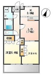 スタシィオン 参番館[2階]の間取り