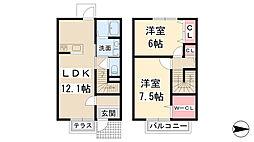 [タウンハウス] 兵庫県川西市出在家町 の賃貸【/】の間取り
