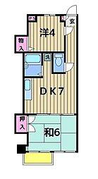 ロアール亀有[306号室]の間取り
