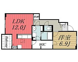JR成田線 成田駅 バス25分 太産工業前下車 徒歩6分の賃貸アパート 1階1LDKの間取り