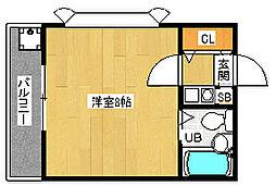 京都府京都市右京区西院西矢掛町の賃貸マンションの間取り