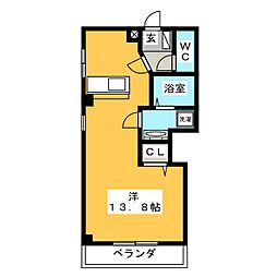 サン・ビジョン[4階]の間取り