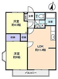 クレスト21B[2階]の間取り