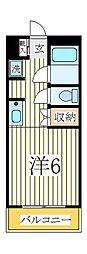 ラフィーヌ・松ヶ丘[2階]の間取り