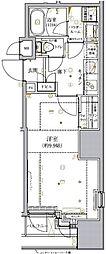 都営新宿線 小川町駅 徒歩2分の賃貸マンション 9階1Kの間取り