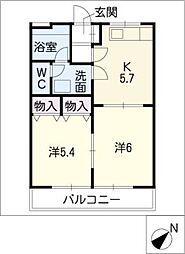 ファミールピア A棟[1階]の間取り