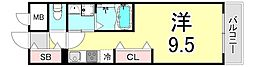 RyowaResidence 5階ワンルームの間取り