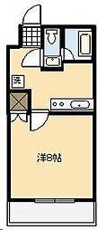 ライトハウス木原[203号室]の間取り