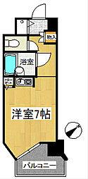 トーカン久留米駅東Ⅱキャステール[8階]の間取り