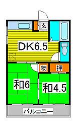 コトブキハイツ3[2階]の間取り