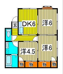 [一戸建] 埼玉県川口市芝1丁目 の賃貸【/】の間取り